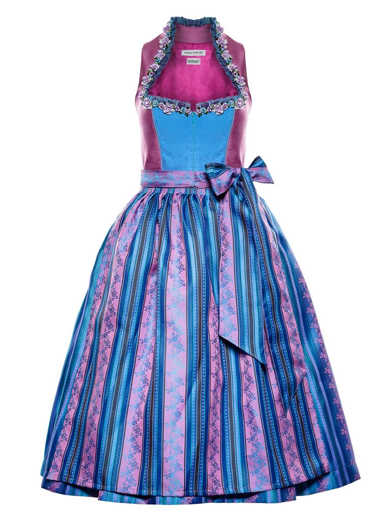VT - Couture Dirndl lila blau mit Blumen