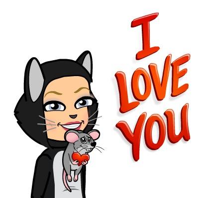 Bitmoij I love you, Mouse