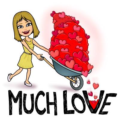 Bitmoij Much Love, Hearts