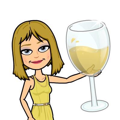 Bitmoji Cheers, White Wine