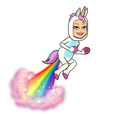 Bitmoji Unicorn, Rainbow, Costume
