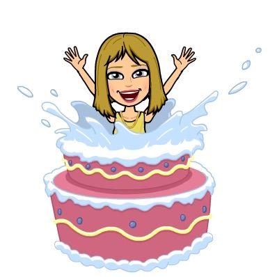 Bitmoji Happy Birthday, Cake, Surprise
