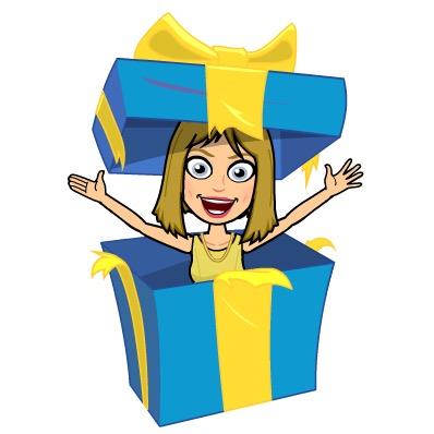 Bitmoji Happy Birthday, Gift, Tada, Surprise