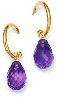 Bloomingdale's Amethyst Briolette Hoop Drop Earrings in 14K Yellow Gold - 100% Exclusive