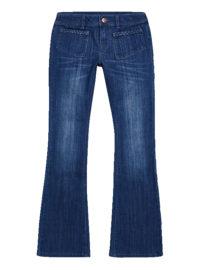 Bootcut-Jeans mit aufgesetzten Taschen