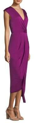 Donna Karan New York Cap Sleeve Gathered Hi-Lo Dress