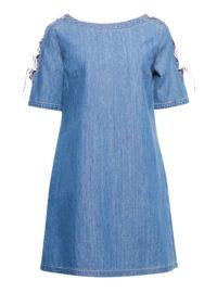 Esprit Baumwoll-Jeanskleid mit Schnür-Details für Damen Blue