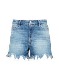 Esprit Jeans-Shorts mit Fransensaum für Damen Blue Medium Washed