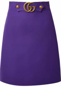Gucci - Embellished Wool And Silk-blend Skirt - Violet