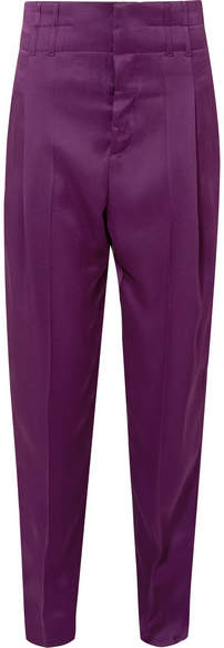 Haider Ackermann - Pleated Satin Pants - Grape