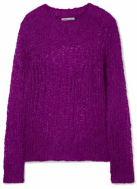 Helmut Lang - Open-knit Mohair-blend Sweater - Violet