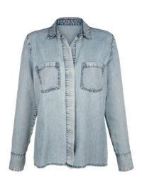 Jeansbluse Alba Moda blue