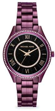 Michael Kors Lauryn Stainless Steel Three-Hand Bracelet Watch