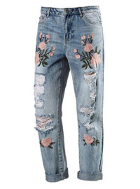 Only Boyfriend Jeans Damen in light-blue-denim