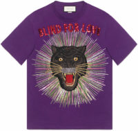Panther with rays cotton T-shirt