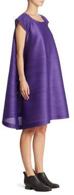 Pleats Please Issey Miyake Cap Sleeve Bounce Dress