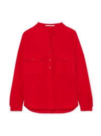 Stella McCartney - Estelle Silk Crepe De Chine Shirt - Red