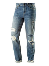 TOM TAILOR Boyfriend Jeans Damen in mid stone wash denim
