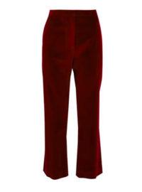 Altuzarra Cropped Stretch-Cotton Velvet Bootcut Pants