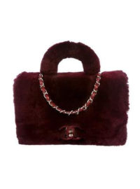 Chanel 2017 Fur Flap Bag w/ Tags