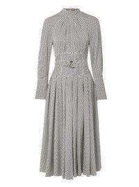 Diane von Furstenberg - Belted Polka-dot Silk Midi Dress - Off-white