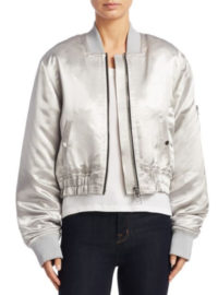 Elizabeth and James Royan Metallic Bomber Jacket