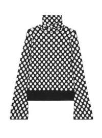 House of Holland - Polka-dot Jacquard-knit Turtleneck Sweater - Black
