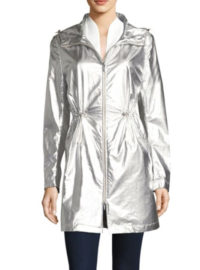 Jane Post Metallic Hooded Parka