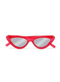 Le Specs - Adam Selman The Last Lolita Cat-eye Acetate Mirrored Sunglasses
