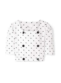 Lisa Marie Fernandez - Diana Double-breasted Embroidered Polka-dot Linen Top - White
