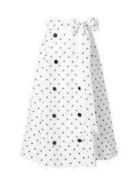 Lisa Marie Fernandez - Diana Embroidered Polka-dot Linen Midi Skirt - White