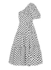 Lisa Marie Fernandez - Arden Ruffled One-shoulder Polka-dot Linen Maxi Dress - White
