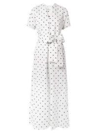 Lisa Marie Fernandez - Rosetta Embroidered Polka-dot Linen Dress - White