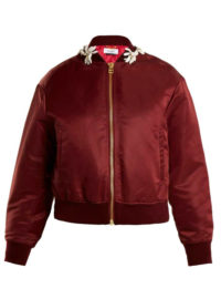 MUVEIL Floral-embellished bomber jacket