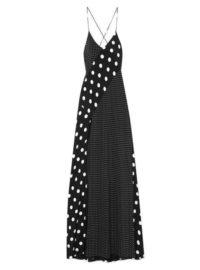 Michelle Mason - Polka-dot Silk Gown - Black