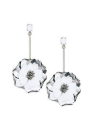 Oscar de la Renta Petunia Long Drop Earrings