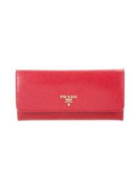 Prada Saffiano Multicolor Continental Wallet