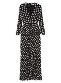 RIXO London - Adriana Ruffled Polka-dot Silk-crepe Midi Dress - Black