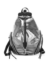 Rebecca Minkoff Julian Zip Metallic Backpack