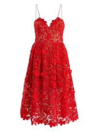 SELF-PORTRAIT Azaelea sleeveless 3-D lace midi dress