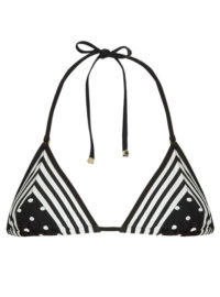 STELLA MCCARTNEY Polka-dot and striped triangle bikini top