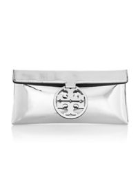 Tory Burch Miller Metallic Clutch